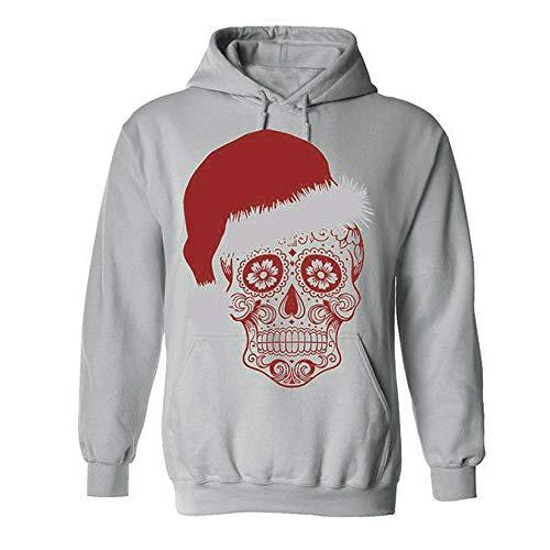 ITISME FRAUEN BLUSE Frauen Weihnachten Langarm Skull Print -