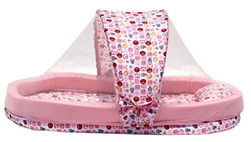 XXL Mattress With Mosquito Net And Bumper Guard (Pink) - MT-06-Pink