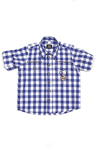 Ludwig & Therese Trachtenhemd Kinder Caspar blau K030005 134/140