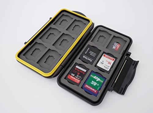 Ares Foto® MC-SDMSD24 Caja de protección de tarjeta de memoria para 12 SD tarjetas y 12 Micro SD tarjetas - New Edition 2017