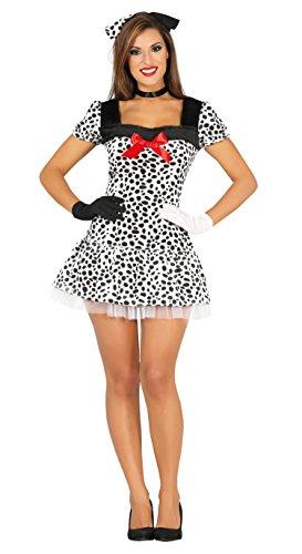 Guirca–Kostüm Erwachsene Dalmatiner, Größe 38–40(88217.0)