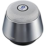 [DalTech] Ultra Small Bluetooth V4.0 Portable Wireless Speaker 5W 45mm Powerful Driver Output Power Build In Microphone For Handfree Phone Call (Gray)