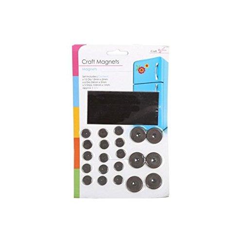 26 Stück selbstklebend Magnete Basteln Kühlschrankmagnet Streifen & RUND MAGNETE