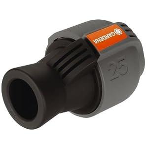 Gardena Sprinklersystem Verbinder, Verbindungsstück für Rohranschluss und für Direktanschluss an Hausinstallation, 25 mm x 3/4 Zoll-Innenewinde, Quick&Easy Verbindungstechnik, 2761-20