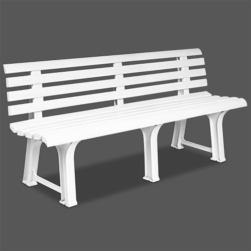 white garden furniture. Deuba Garden Bench Outdoor Seater Terrace Furniture White Balcony Durable Weatherproof Orchidee