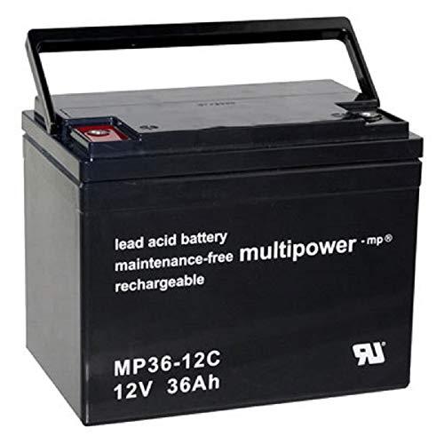 Batteria di ricambio per Shoprider Portas 2X Multipower 12 V - 36 Ah  ciclismo AGM VRLA Akkuman de Set