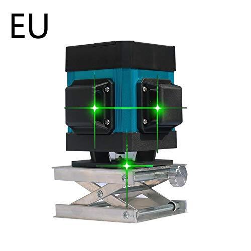 seasaleshop Kreuzlinienlaser Selbstnivellierend 3 x 360 Kreuzlinienlaser Grüner 360 Grad Laser Level mit Pulsfunktion für Wand-, ERD- und Deckenbau