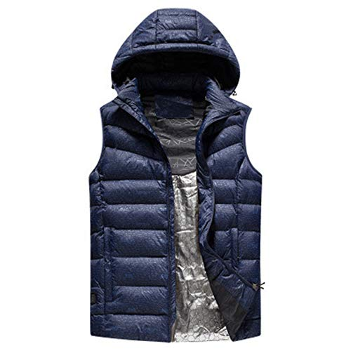 41bqnH1YdQL. SS500  - XIHAA Electric Heated Warm Vest Cotton Clothing Hooded USB,Lightweight 5V 3 Heating Levels Outdoor Riding Down In The Warm Coat Smart Heating Vest