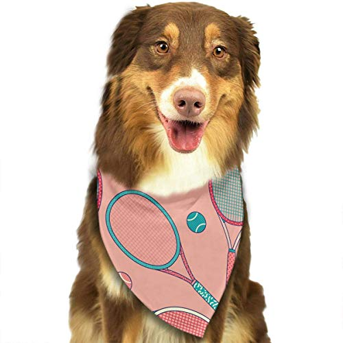 Hipiyoled Buntes Tennisball-Muster-stilvoller Hundebandana-Kragen-waschbarer reversiable justierbares Dreieck-Lätzchen
