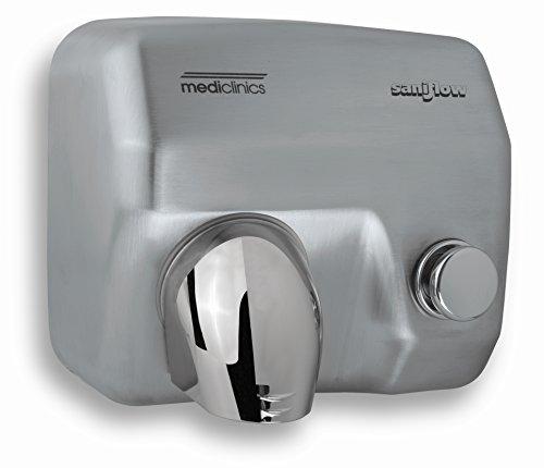 Druckknopf-händetrockner (All Care 12280 Mediclinics Edelstahl Händetrockner mit Drucktaste, 2250 Watt, 68 dB)