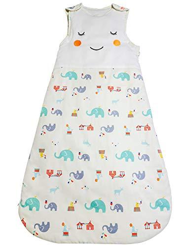 Babyschlafsack aus Baumwolle von Stewys - mit Windelwechsel Reißverschluss I Kinderschlafsack für Mädchen & Jungen, 6 - 18 Monate, 2.5 Tog