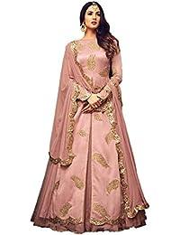 Vasu Saree Light Pink Net Anakali Suit(Azara-4701)