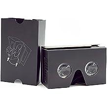 NOLO VR Cardboard Casque de réalité virtuelle pour vidéos 360 Films et Jeux DIY Kit VR Lunettes Compatible avec Android et iOS dans 7-15 cm Nouvelle Version Noir