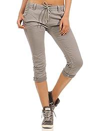537f87731199 Fresh Made Damen Capri Jogg Jeans Shorts Boyfriend LFM-136 destroyed