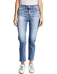 AG The Phoebe High Waisted Slim Straight Jeans In 16 Years Indigo deluge