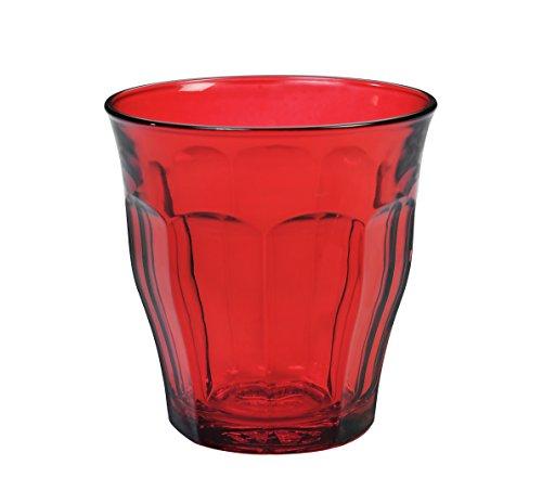 Duralex 1027sr06Picardie 6Gläser Glas rot 8,5cm Rote Gläser