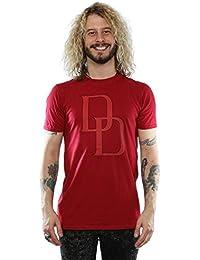 Marvel Homme Daredevil DD Logo T-Shirt XX-Large Cardinal