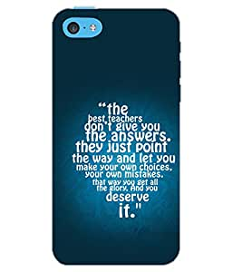 PrintDhaba QUOTE D-6922 Back Case Cover for APPLE IPHONE 5C (Multi-Coloured)