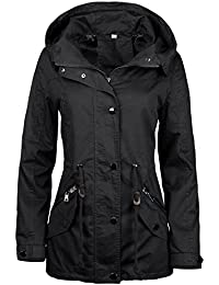 Amazon.it  trench donna - Giacche   Giacche e cappotti  Abbigliamento e1ee2be49ee7