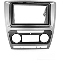 CARAV 11-258 2-DIN Marco de plástico para radio para SKODA Octavia 2008-2013 (automatical A/C) gray