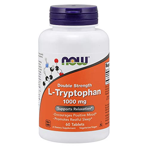 Now Foods L-tryptophan 1000mg, Tablets, 60-Count - 60 Ct Flasche