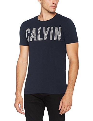 Calvin Klein Herren Pullunder Tyrus Slimfit Cn Tee Schwarz (Night Sky)