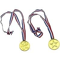 Medallas, Fontee 24Pcs Ganadores Medallas deportes día olímpico tema niños fiestas premios recompensa niños