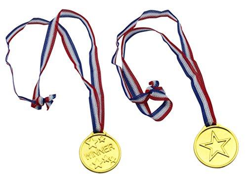 Fontee Medallas, 24Pcs Ganadores Medallas Deportes día olímpico Tema niños Fiestas premios...