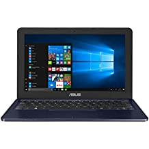 "Asus E202SA-FD0076T - Portatil de 11.6"" HD (Procesador Intel Celeron N3060, 4 GB de RAM, disco duro de 500GB, Intel HD Graphics 400, Windows 10) Teclado QWERTY español - Azul Oscuro"