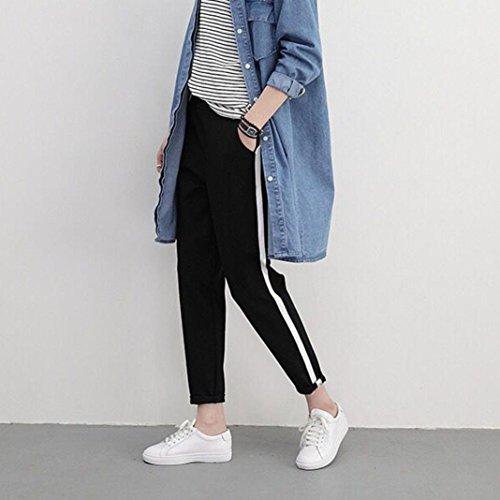 ❤️Leggings Femmes, Amlaiworld Mode Pantalons Femme Rayures Pantalons Casual Femmes Noir Noir