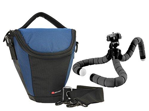 Foto Kamera Tasche DELSEY GOPIX 160 Colt Set mit kompaktem Reise Stativ Rollei Monkex