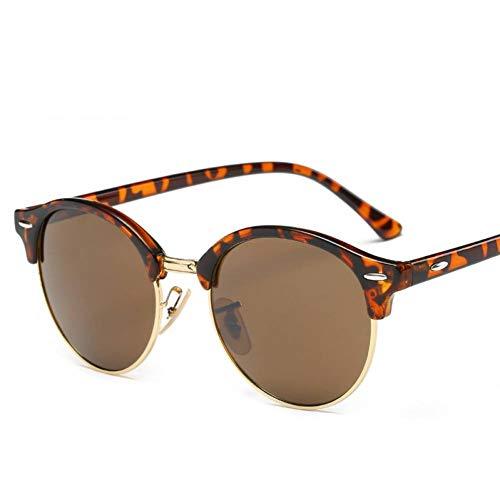 Chudanba Runde Sonnenbrille Frauen Brillen uv400 weibliche Sonnenbrille,C6