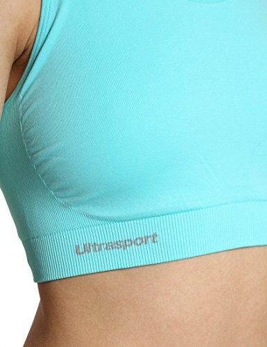 Ultrasport Damen Funktions-Sport Top-BH, medium Impact, Ringerrücken Blau