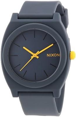 Nixon Time Teller P A1191244-00 - Reloj unisex, correa de plástico color gris