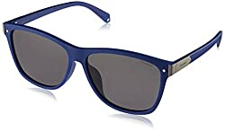 Polaroid Sunglasses Pld6035fs Polarized Rectangular Sunglasses, Blue, 58 mm