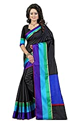 BuyOnn Women's Clothing Saree Today best offers buy online in Low Price Sale Designer Multi Color Cotton Silk Fabric Free Size Ladies/ Women Saree With Blouse Piece)