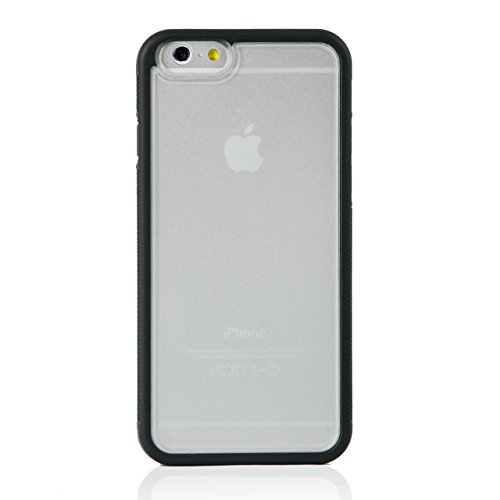 "iProtect Apple iPhone 6 (4,7"") Hülle Bumper Hard Case TPU + PC Schutzhülle transparent Bumper Hülle Schwarz"