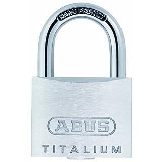 Abus 64TI/40 Twins B/SB Titalium-Vorhangschloss Set, 2-Stück mit 3 Schlüsseln