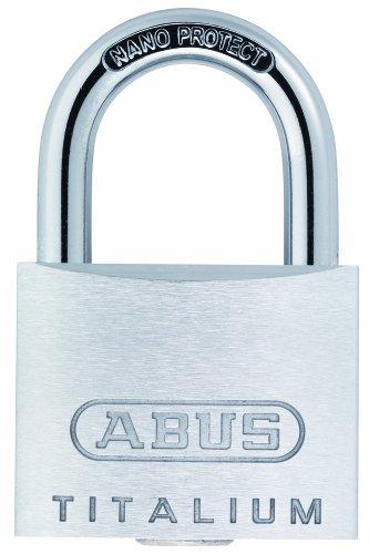 ABUS Titalium-Vorhangschloss 64TI/40, Quads Set-4-Stück mit 5 Schlüsseln gleichschließend, 56960