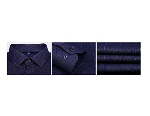 CHLXI Uomini Maniche Lunghe Più Spessa Camicia Calda Casual 98