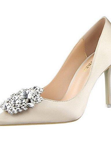 WSS 2016 Chaussures Femme-Décontracté-Noir / Vert / Rose / Rouge / Argent / Gris / Or-Talon Aiguille-Talons-Talons-Laine synthétique black-us6.5-7 / eu37 / uk4.5-5 / cn37