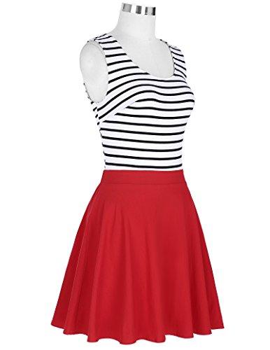 Vintage 1950er Floral Pattern Festliche Kleid Mehrer Farbe Partykleid CL445-1