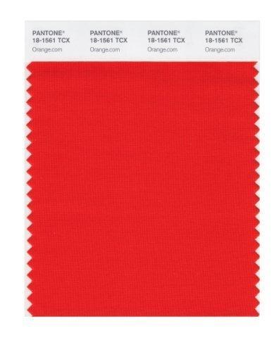 PANTONE SMART 18-1561X Color Swatch Card, Orange.com by Pantone