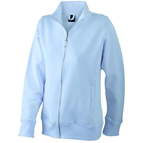JAMES & NICHOLSON - sweat-shirt ouverture zippée - non déformable - JN052 - Femme Blanc