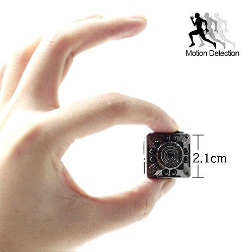 Mini Kamera UYIKOO HD 1080P Kleine Tragbare Kamera Bewegungserkennung Sicherheits Nanny Kamera Mit Infrarot Nacht Licht Für Home / Büro / Garage (Sicherheits-kamera Aus)