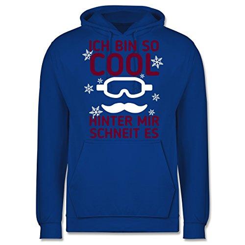 Wintersport - Ich bin so cool, hinter mit schneit es - Männer Premium Kapuzenpullover / Hoodie Royalblau