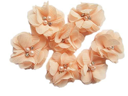 (YYCRAFT Chiffon-Perlen für Bastelprojekte, 5 cm, 20 Stück Peach New)