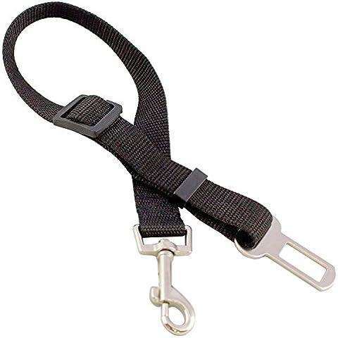 Lantelme 4913 Adaptador de perros para el cinturón de seguridad del coche. Correa de perro coche ajustable de 40 a 60