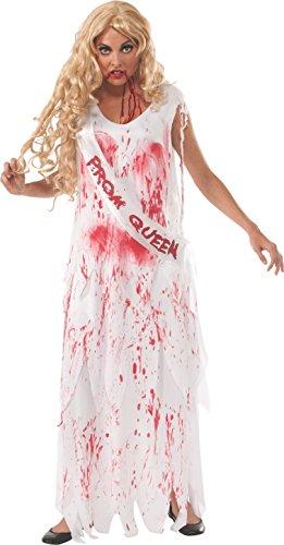 Rubie 's Offizielles Erwachsene 's Bloody Ball Queen Braut Halloween-Kostüm-Standard (Bloody Braut Kostüm)