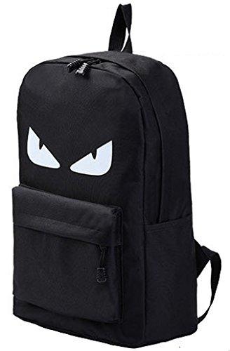 Aimerfeel stilvoll leichte schwarze coole kreative Charakter Design Rucksack / Rucksäcke Gym Taschen, Sport Gym School Style Rucksack, schwarz mit den Augen